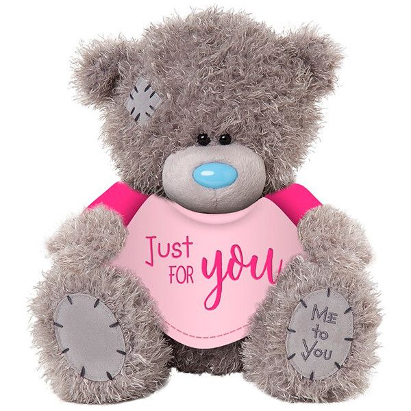 Мишка Teddy в футболке Just for You 11 см АР401003