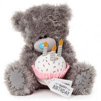 Мишка Teddy с тортиком Happy Birthday 30 см APD01002