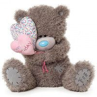 Фото Мишка Teddy с сердечками Happy Birthday 50 см APS01001