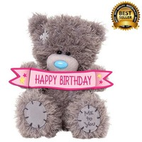 Фото Мишка Teddy с табличкой Happy Birthday 13 см AP501005