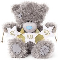 Фото Мишка Teddy со звездочками I love you this much 23 см XP901001